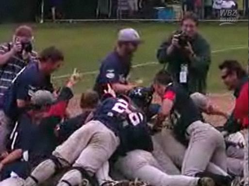 Bourne Braves celebrating