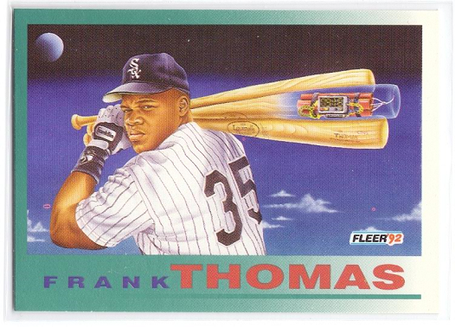 One of my favorite Frank Thomas baseball cards.  SBNation has a good summary  of it.