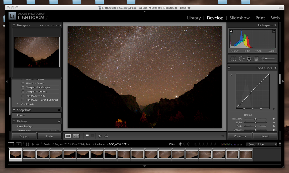 Import into lightroom