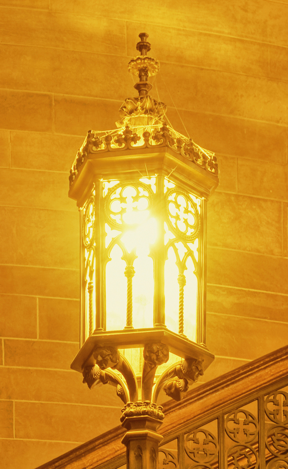 Theological seminary post lamp