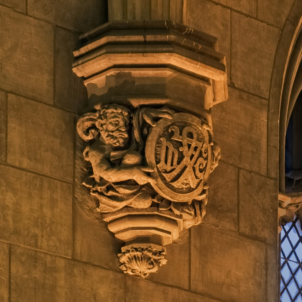 Harper memorial detail gargoyle 1