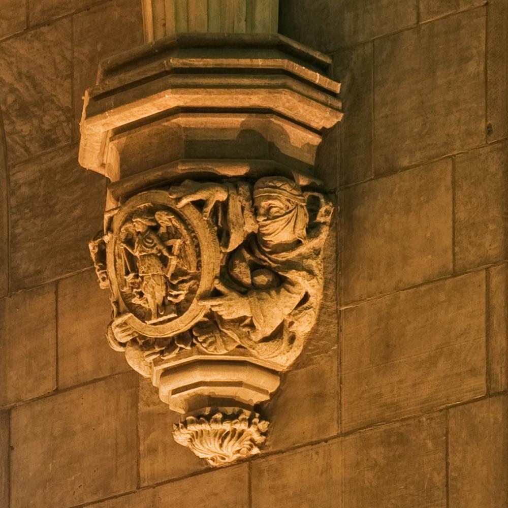 Harper memorial detail gargoyle 2