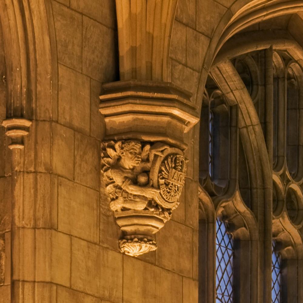 Harper memorial detail gargoyle 3