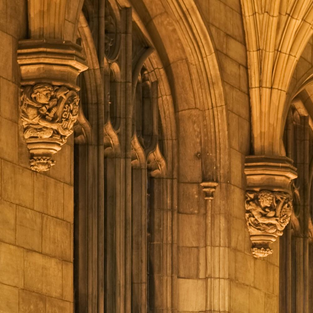 Harper memorial detail gargoyle 5