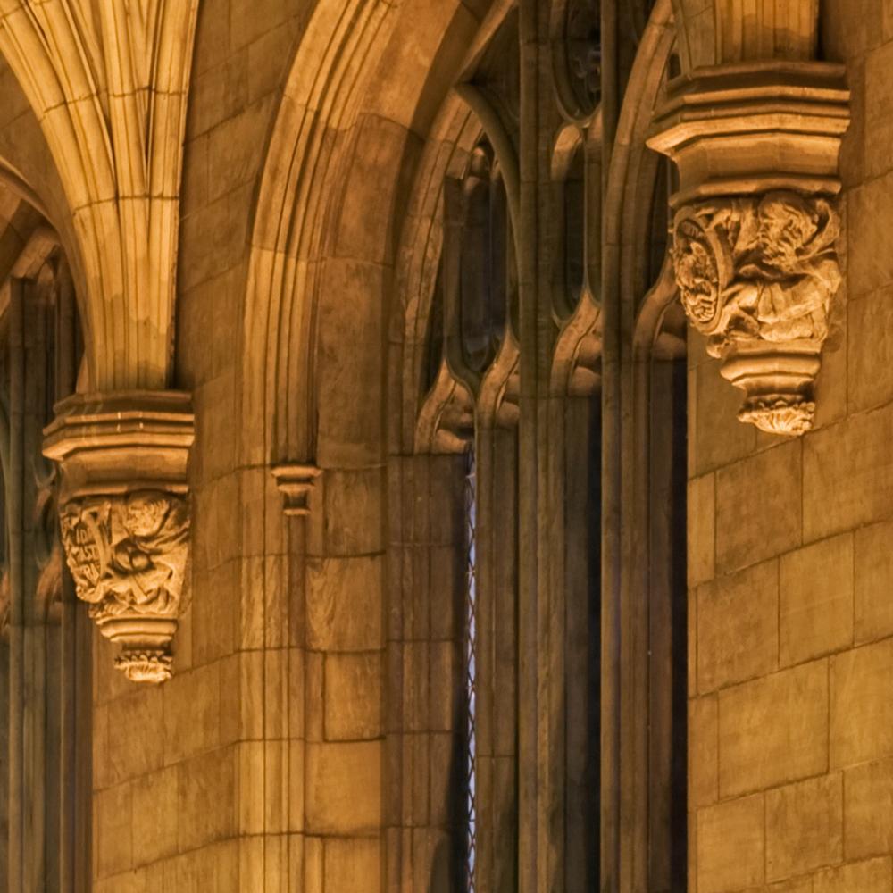 Harper memorial detail gargoyle 6
