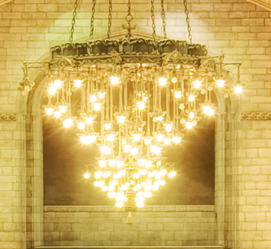 Single capture chandelier, 100% crop