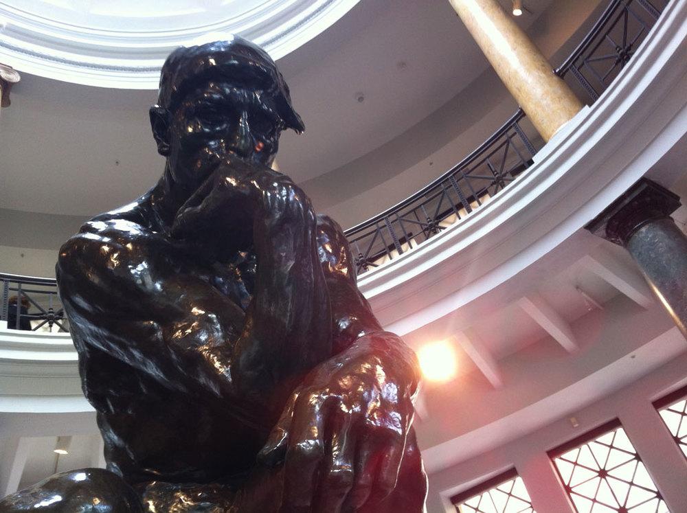 The Thinker. Rodin.