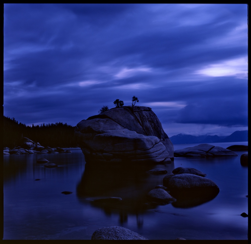 Lake Tahoe Bonsai Rocks on Velvia.