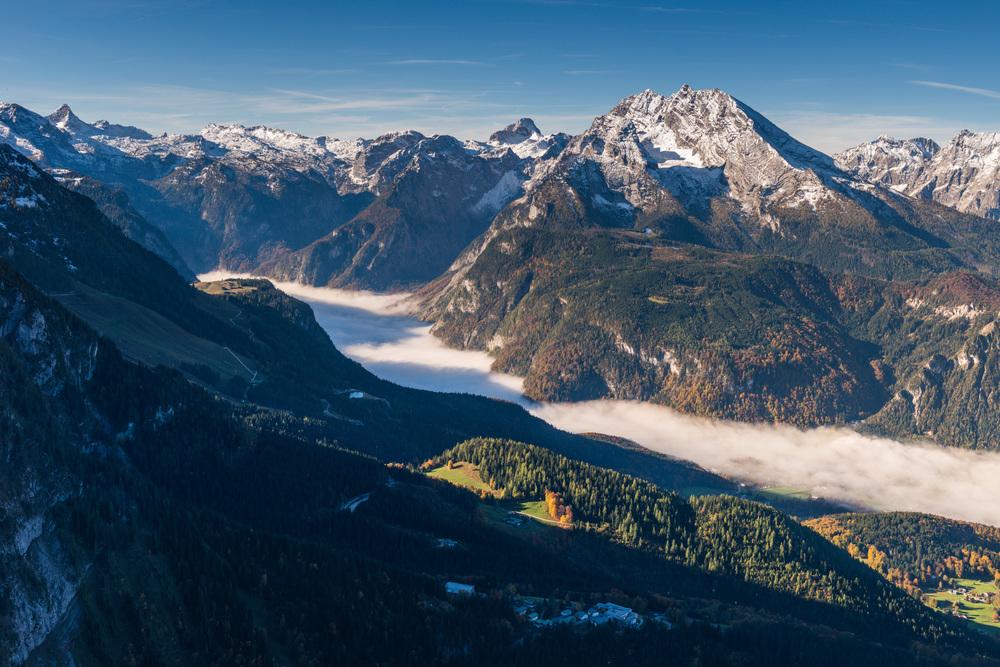 Early morning fog drapes overKönigssee,Berchtesgaden, October 2013