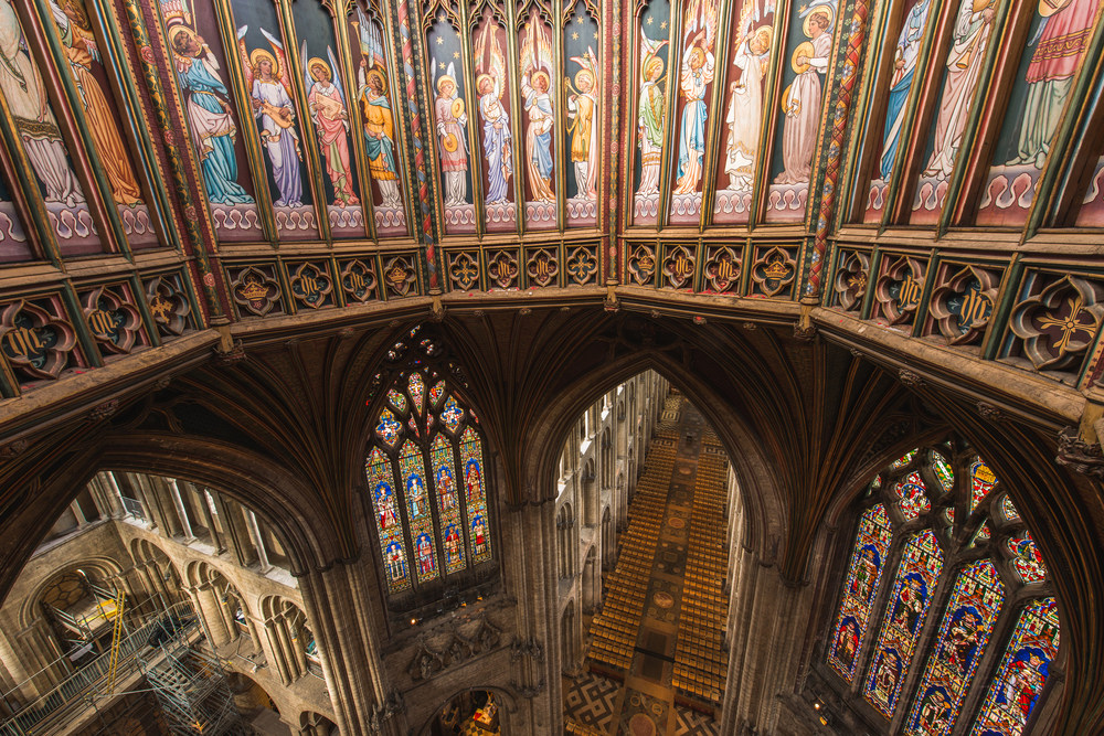 Ely Cathedral from inside the tower - September 2015