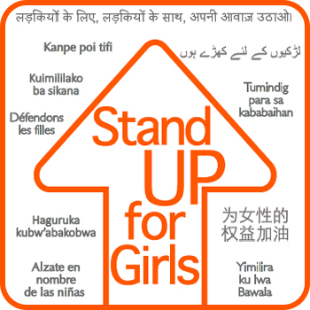 Download the Stand Up for Girls Sign to join our photo campaign.