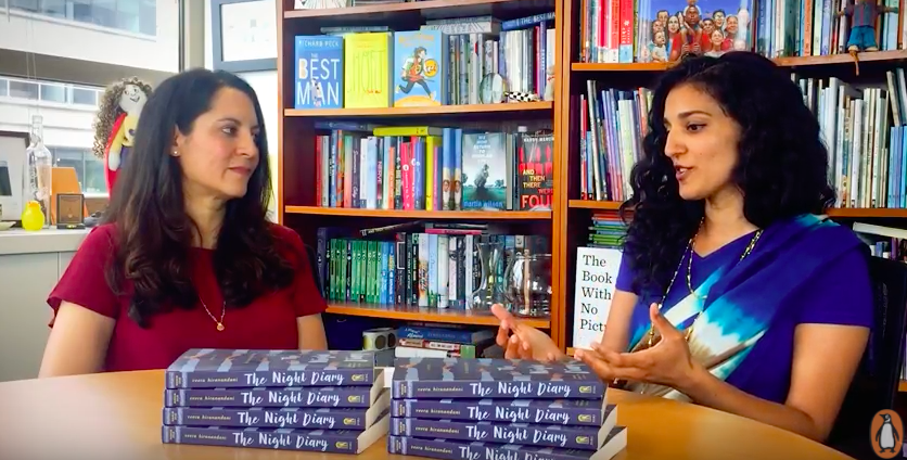 Author Veera Hiranandani (left) in conversation with her editor, Namrata Tripathi (right).  Source:  YouTube