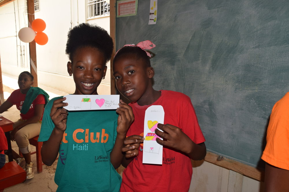LitKids in Haiti and their Inspiration Bookmarks.