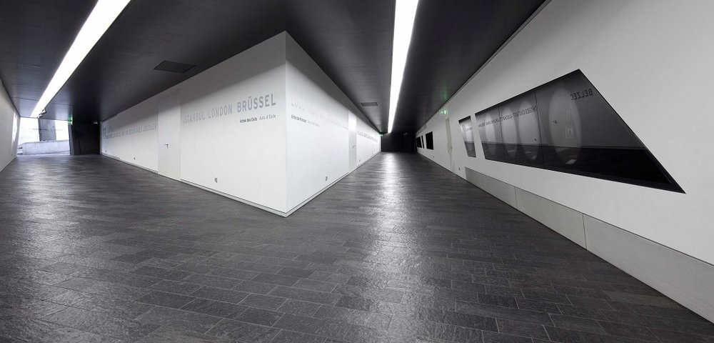 The lower level of the Jewish Museum where my disorientation began. Photo: Jens Ziehe.