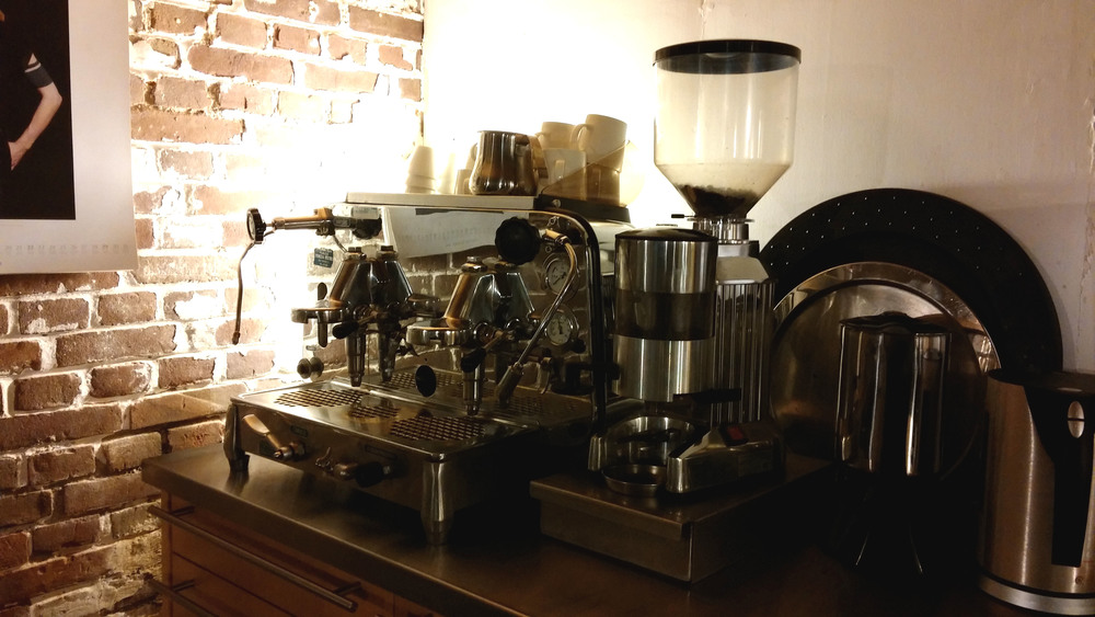 The very important espresso machine at Marzee