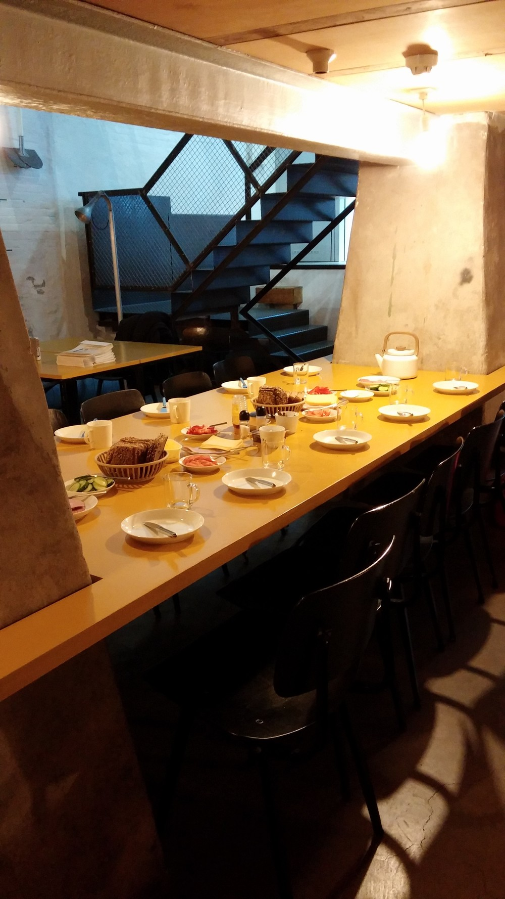 Lunch for 10 people. Good thing traditional Dutch lunch is just DIY sandwiches.