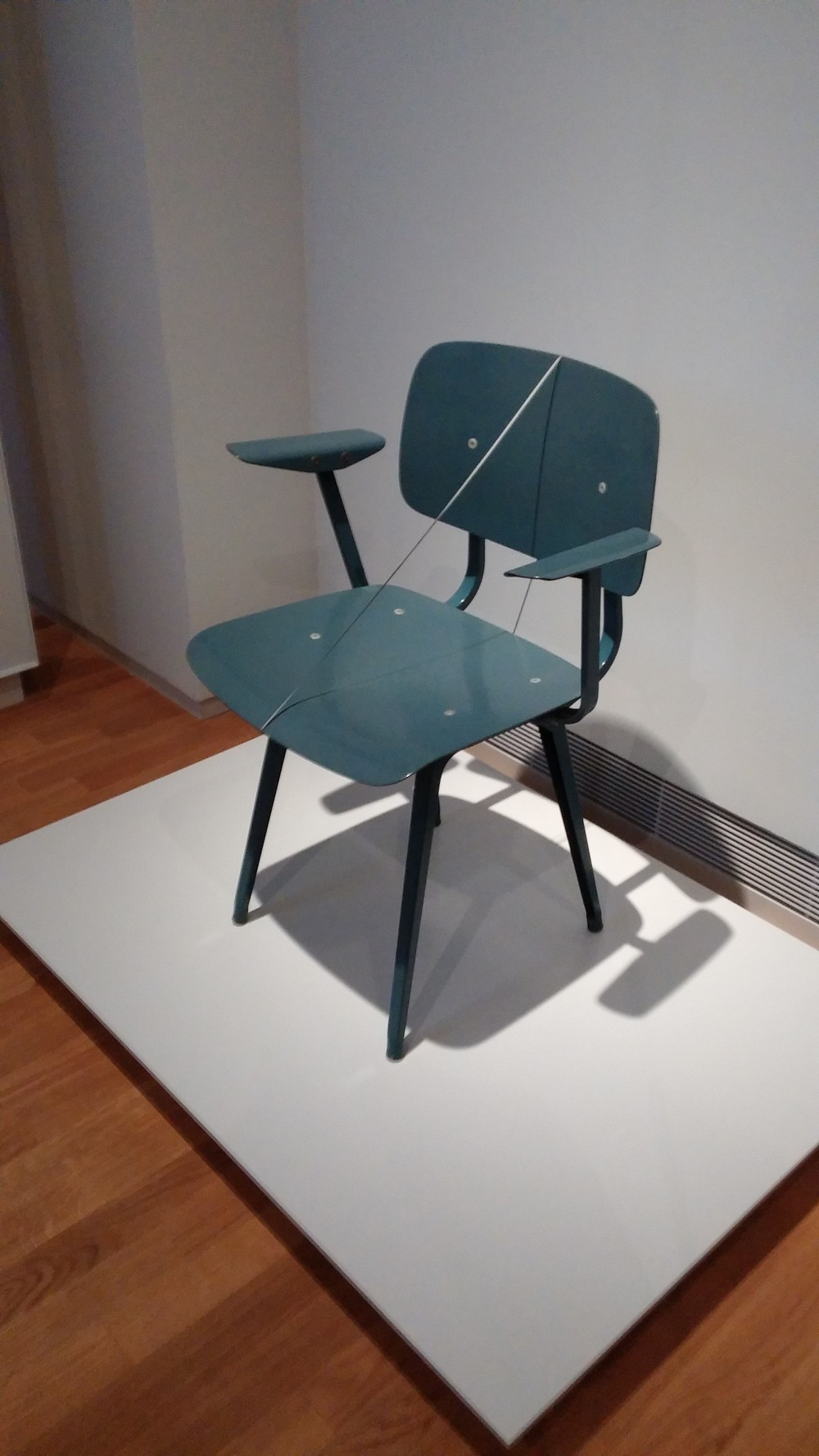 "Friso Krammer's ""revolt chair"" at the Rijk's Museum. I'm sitting in a similar one as I type this at the gallery."