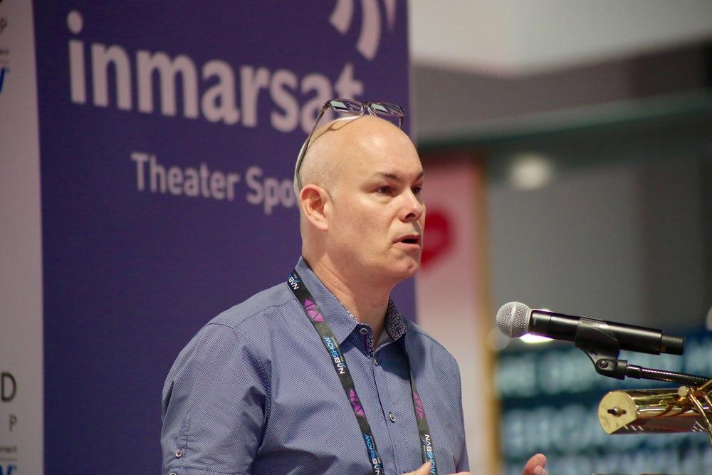 Tim Schaaff speaking at NAB 201