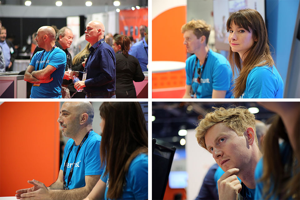 Close up shots of Intertrust team members listening and learning from our customers.