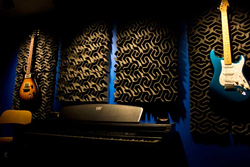 Freestone Media- rear wall of control room with SoundTrax acoustic panels.