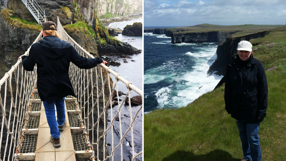 Carrie on a recent trip to Ireland.