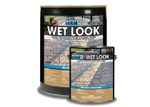 Wet look oil-based sealer
