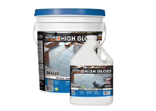 High gloss water-based sealer
