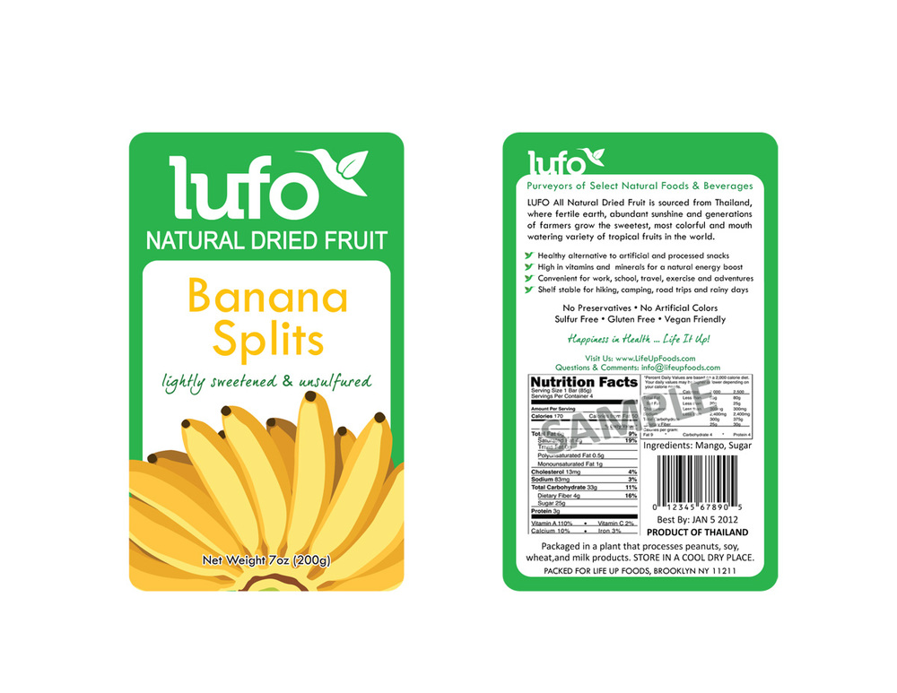 LUFO Natural Dried Fruit package design