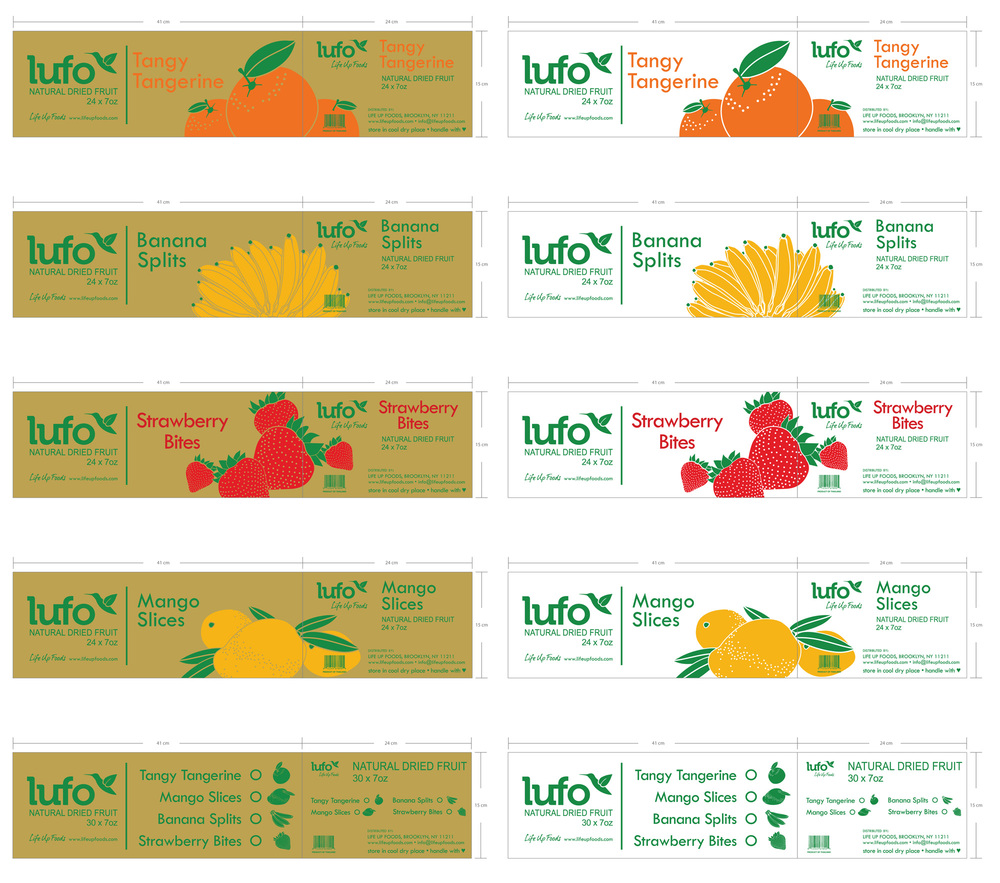 LUFO Natural Dried Fruit carton design