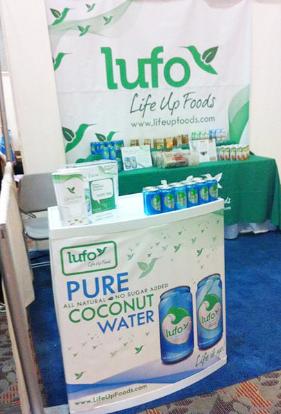 Life Up Foods show booth