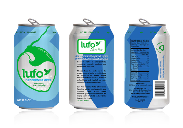 LUFO Pure Coconut Water with Pulp