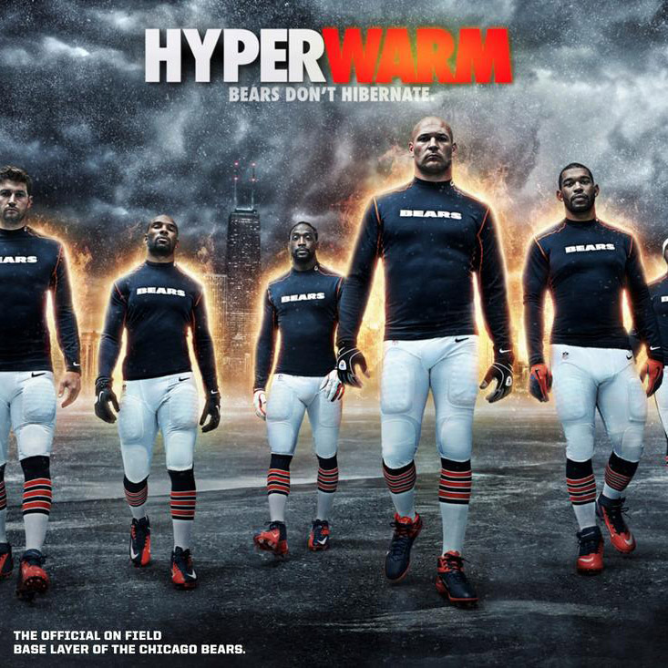 Nike Hyperwarm + the Chicago Bears