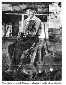 I've shared this newspaper photo before but it's a great shot of my Great-Great Grandpa with a bunch of the instruments he made.