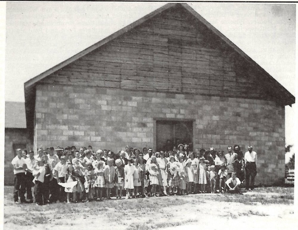 Clarkrange Baptist Church, 1949 From Remembrances by Luther Atkinson, 1992