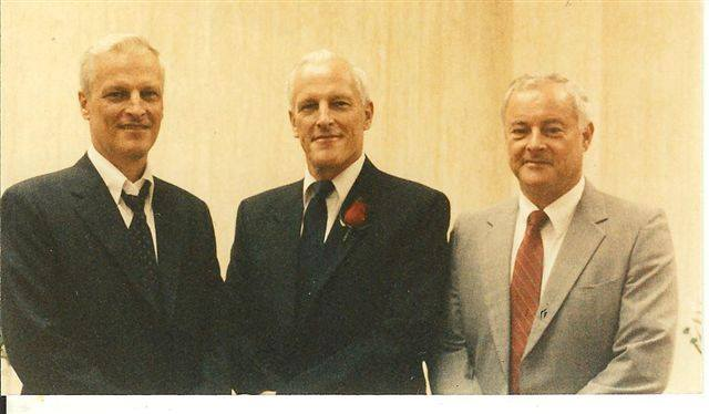 Harry Lane in the center with his brothers Larry and Emory