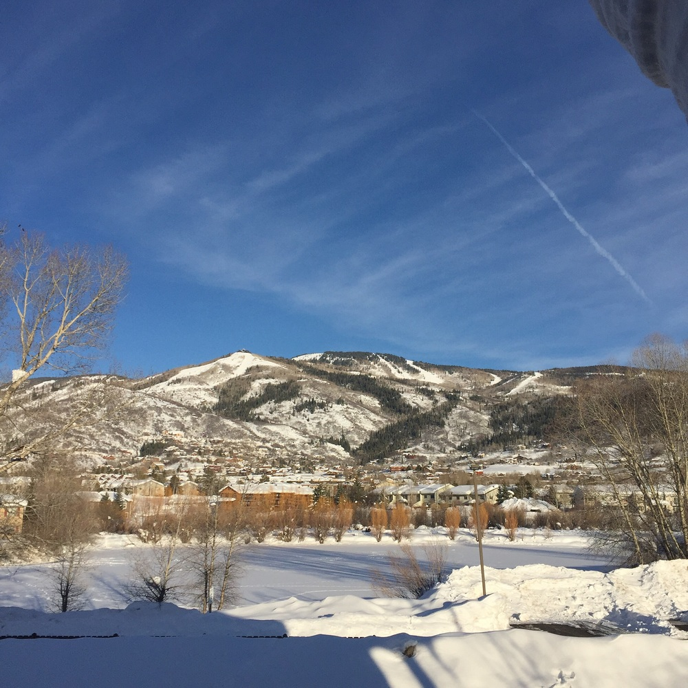 The view of Steamboat Ski Area from our hotel.