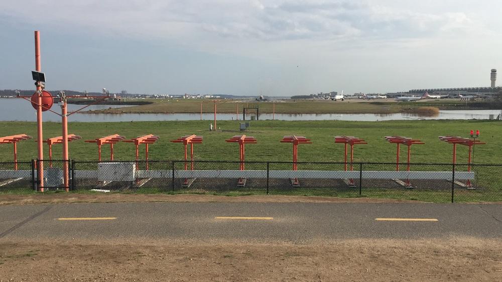 Planes taking off at Ronald Reagan National Airport