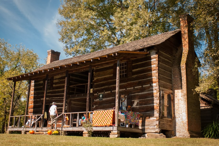 John Looney House Pioneer Museum- Oldest known double dog trot log cabin in Alabama