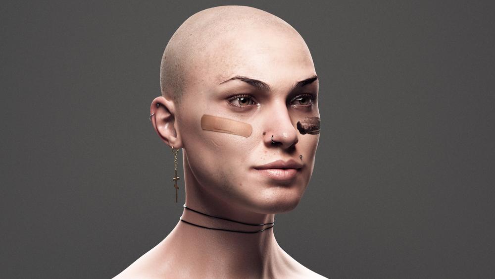 Human skin texture maya