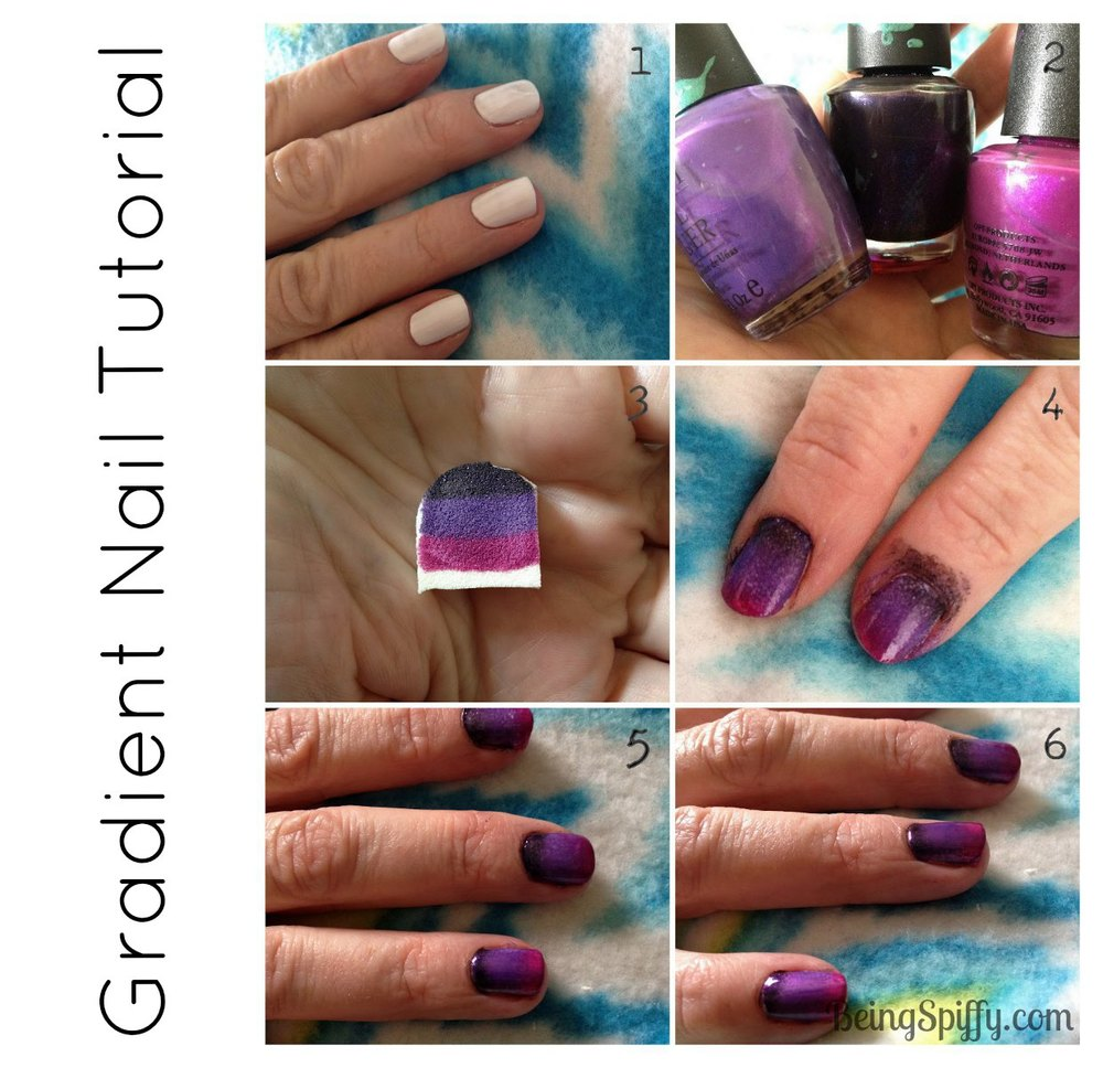Gradient Nail Tutorial — Being Spiffy