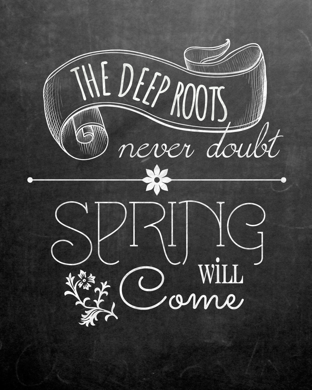 Blackboard Artwork Ideas: Free Spring Chalkboard Art Print