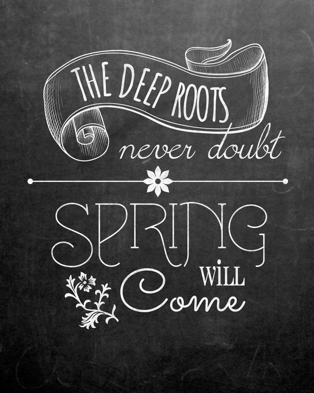 Free Spring Chalkboard Art Print