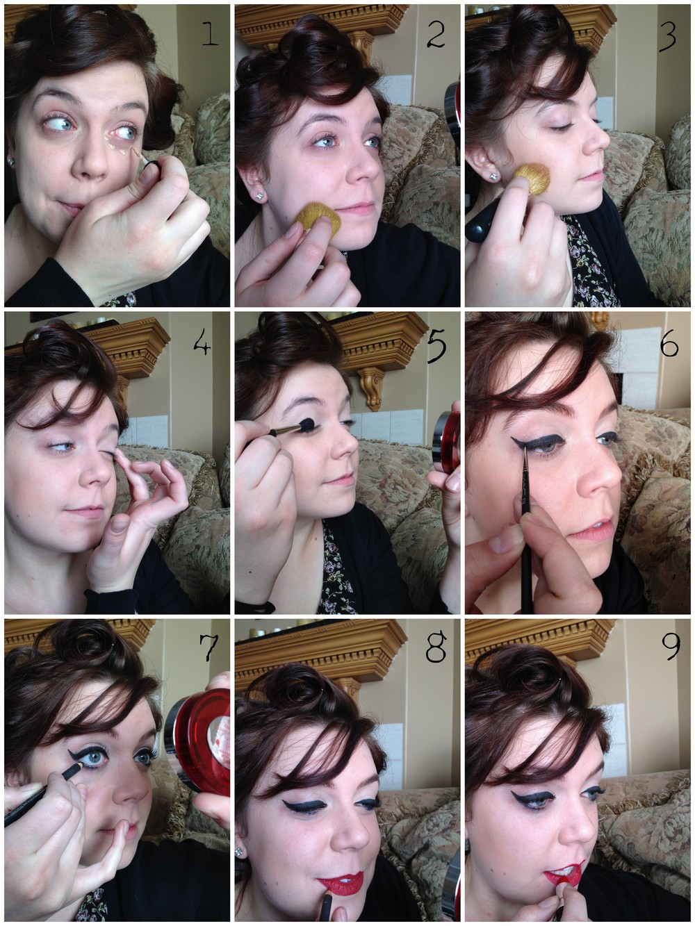 Full Face makeup tutorial step by pictures