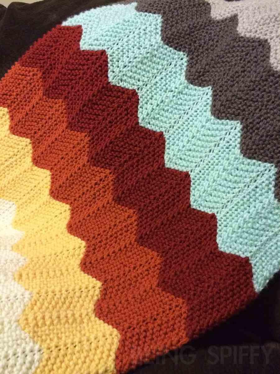 Knit Chevron Baby Blanket — Being Spiffy