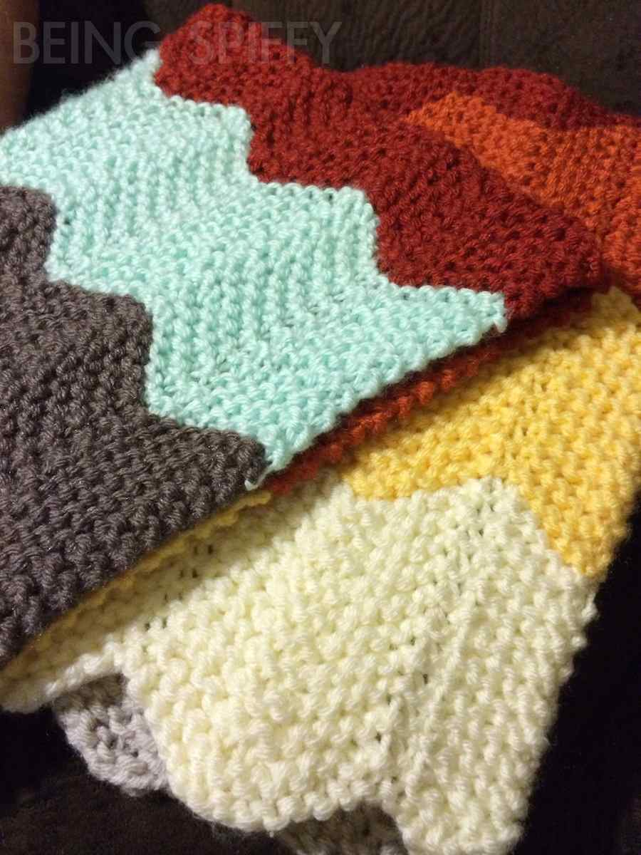 Chevron Afghan Pattern Knit : Knit Chevron Baby Blanket   Being Spiffy