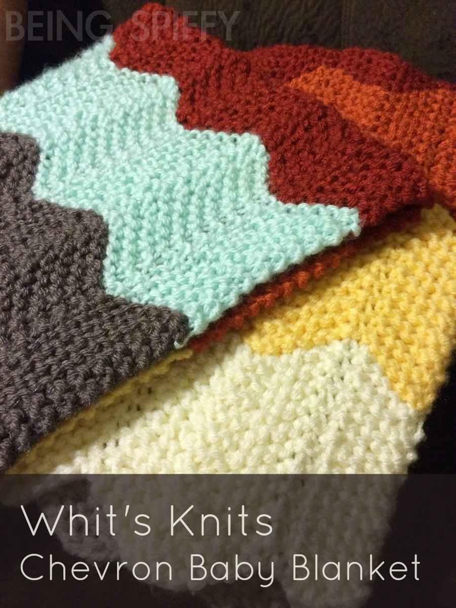 Chevron Knitting Pattern Blanket : Knit Chevron Baby Blanket   Being Spiffy