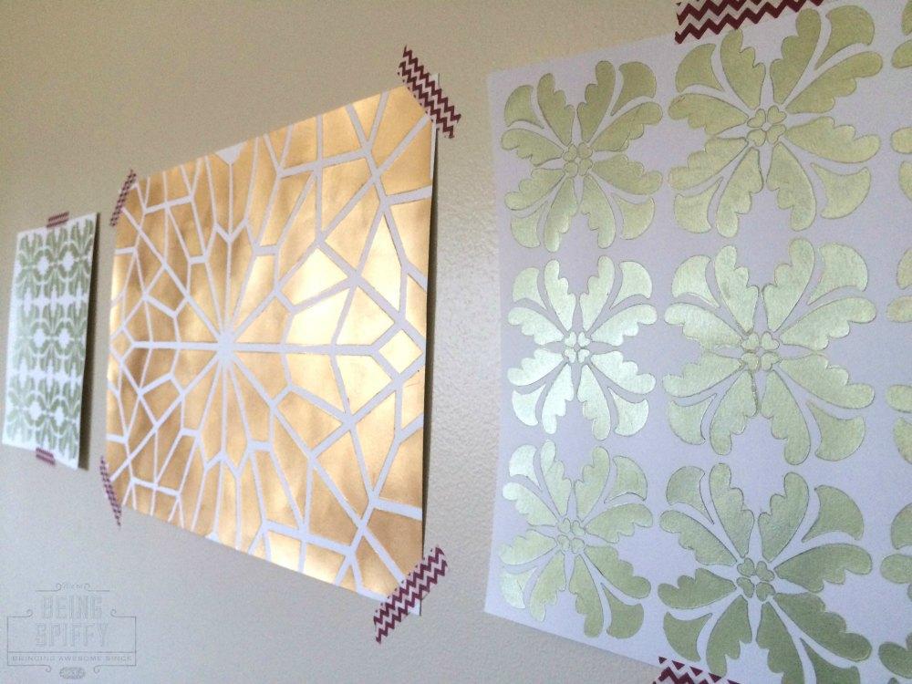 20 minute stencil art being spiffy. Black Bedroom Furniture Sets. Home Design Ideas