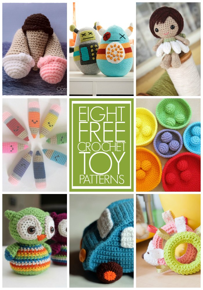 Eight Free Crochet Toy Patterns Being Spiffy