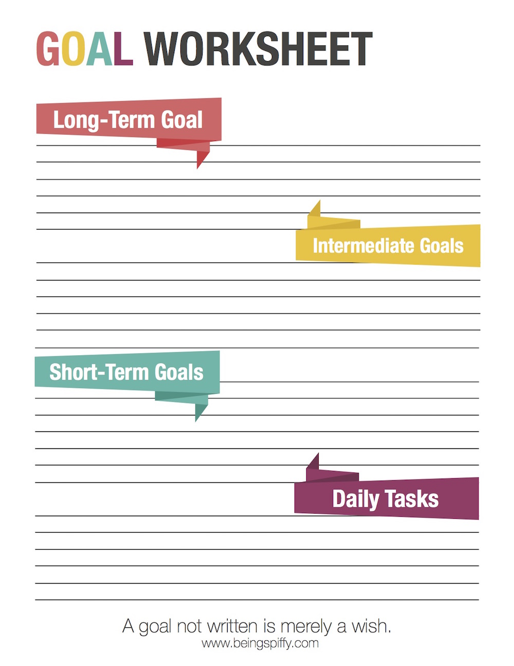 Worksheets Short And Long Term Goals Worksheet how to set goals and achieve them being spiffy just click on the image below download option will open in a new window print as many you need organize each of your long term g