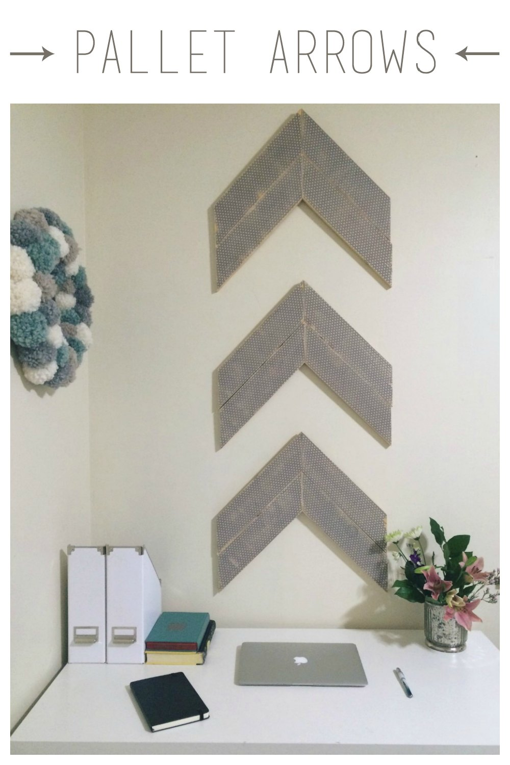 Unique Pallet Arrow Wall Decor — Being Spiffy IC32